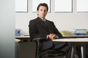 Businessman in an office